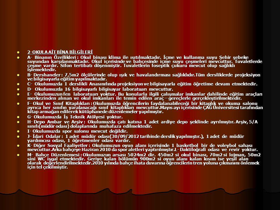 3-ÖĞRENCİ BİLGİLERİ EĞİTİM ÖĞRETİM YILI 2011-20122012-2013 OKUL ÖNCESİ 3543 İLKOKUL150141 ORTAOKUL95118 TOPLAM:280302