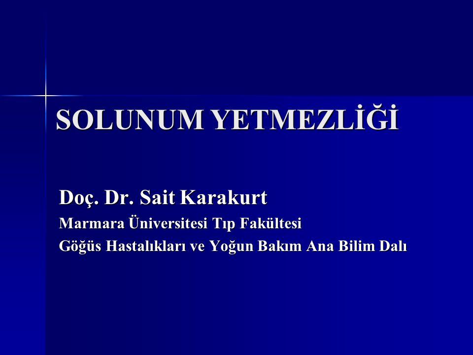 SOLUNUM YETMEZLİĞİ Doç. Dr. Sait Karakurt Marmara Üniversitesi Tıp Fakültesi Göğüs Hastalıkları ve Yoğun Bakım Ana Bilim Dalı
