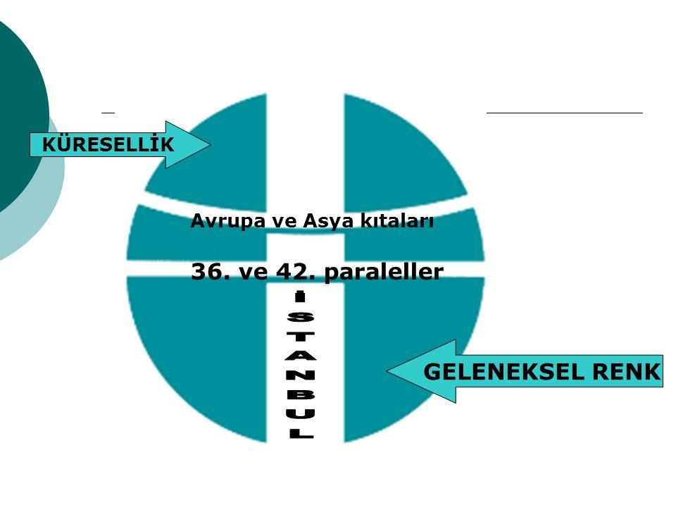 36. ve 42. paraleller Avrupa ve Asya kıtaları KÜRESELLİK GELENEKSEL RENK