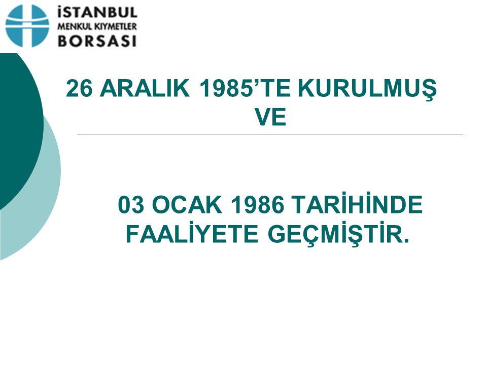 İMKB'NİN MALİ YAPISI Borsa özel bütçe ile idare olunur.