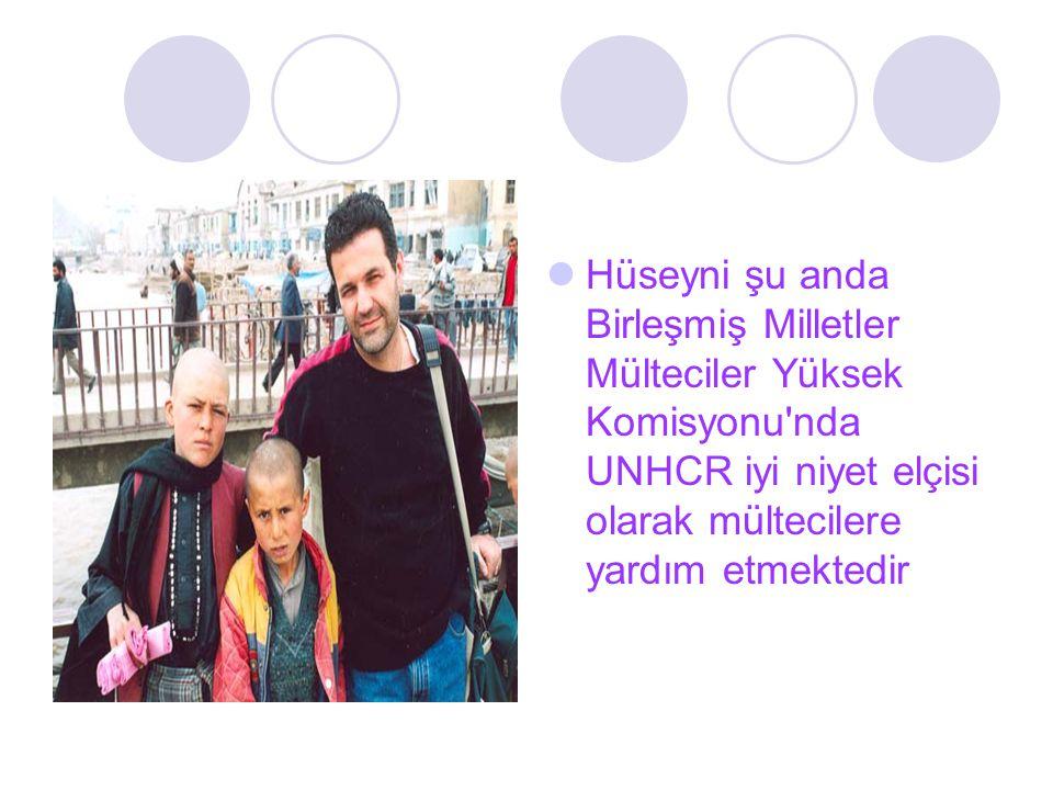 Hüseyni şu anda Birleşmiş Milletler Mülteciler Yüksek Komisyonu nda UNHCR iyi niyet elçisi olarak mültecilere yardım etmektedir