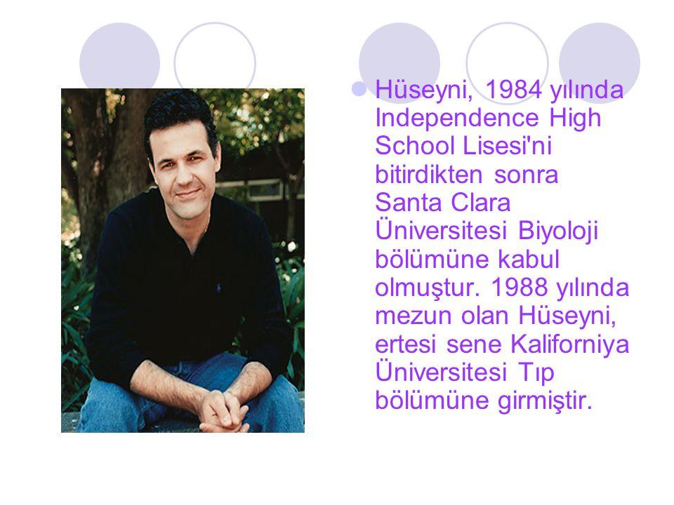 Hüseyni, 1984 yılında Independence High School Lisesi'ni bitirdikten sonra Santa Clara Üniversitesi Biyoloji bölümüne kabul olmuştur. 1988 yılında mez