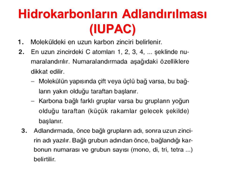 Hidrokarbonların Adlandırılması (IUPAC)