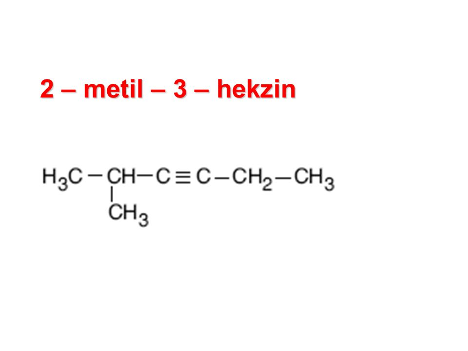 2 – metil – 3 – hekzin