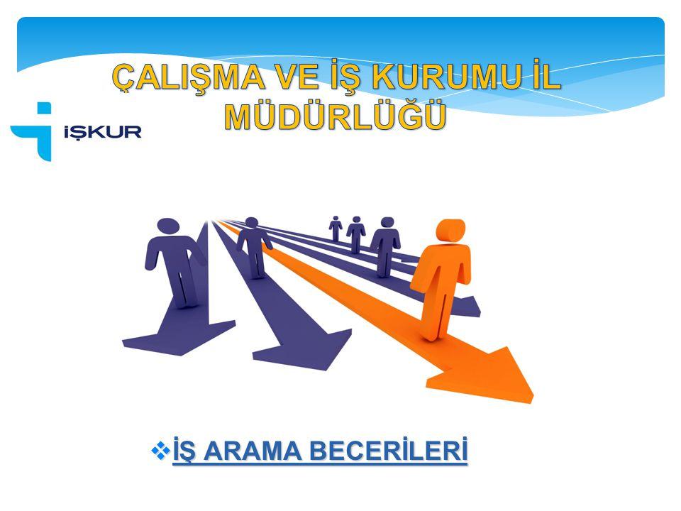  İŞ ARAMA BECERİLERİ