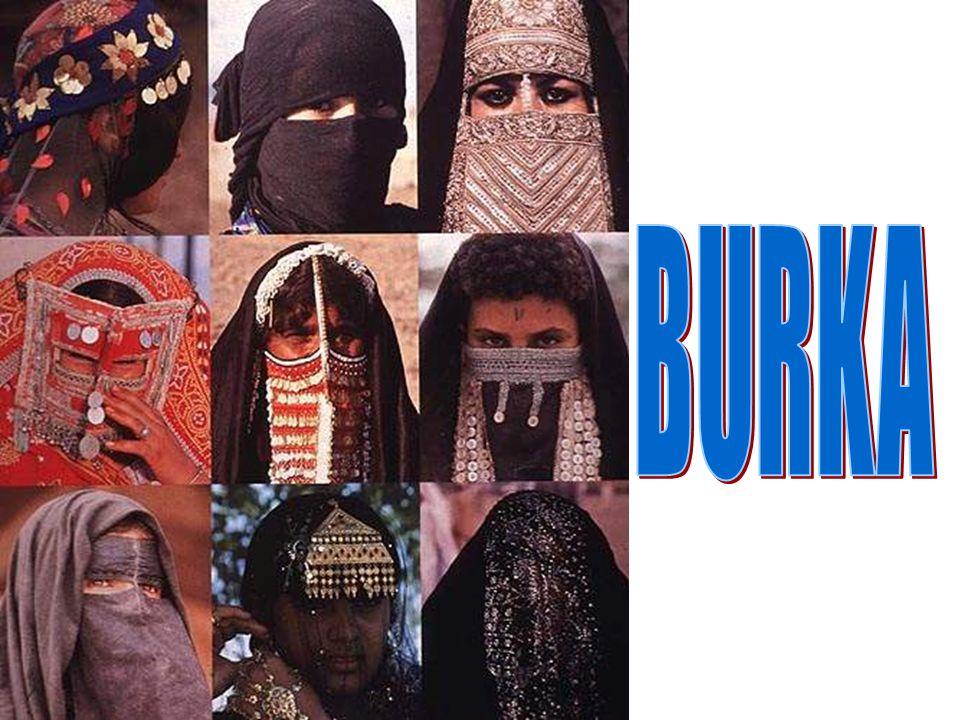 Müslüman ülkelerdeki kadınların tipik giysileri Arap kadınların Yüzü açık bırakan karakteristik örtüsü.