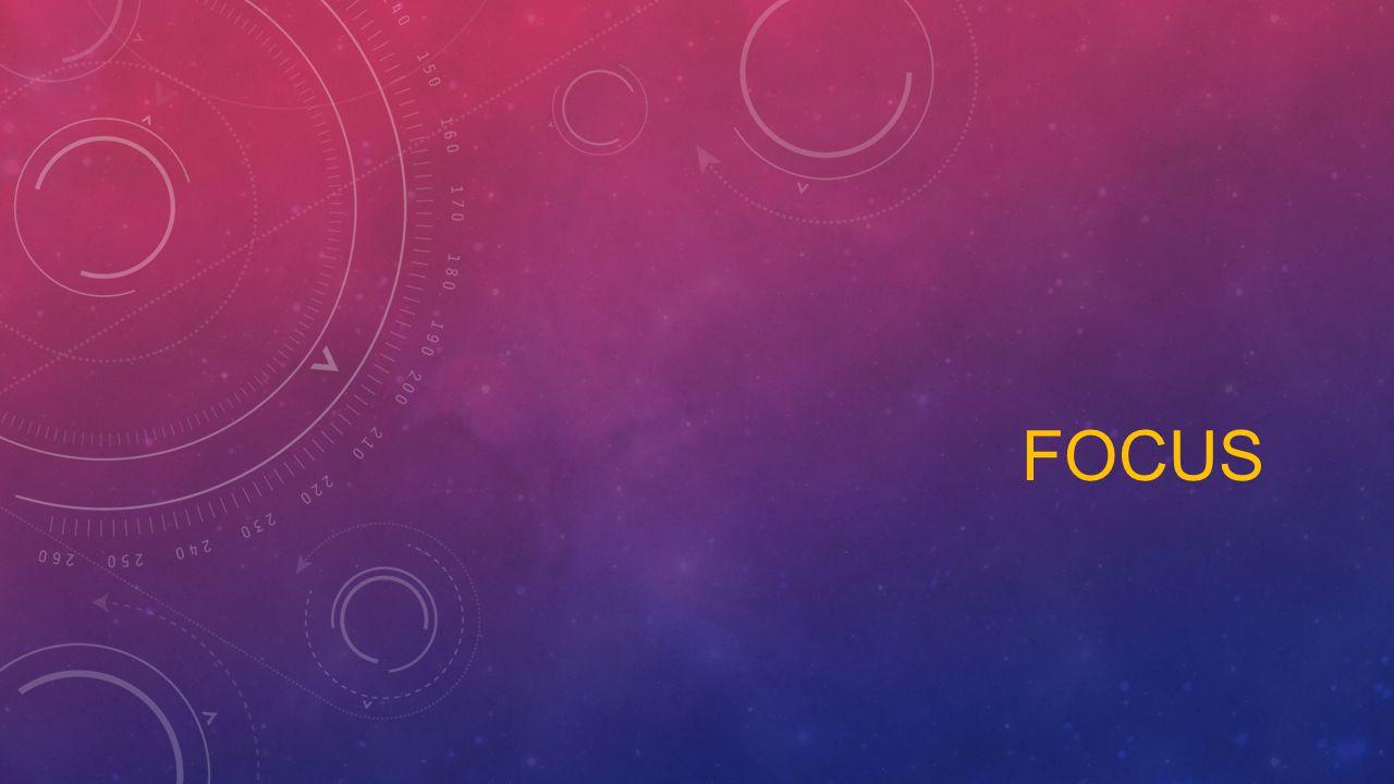 Focus oyunun temelini atmak için en önemli adımdır Focus kendinizi ifade etmek için bir fırsattır Focus oyun fikrinizi tartışmaya açmak böylece artı ve eksi yönlerini görmenizi sağlar