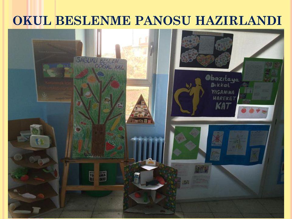 OKUL BESLENME PANOSU HAZIRLANDI