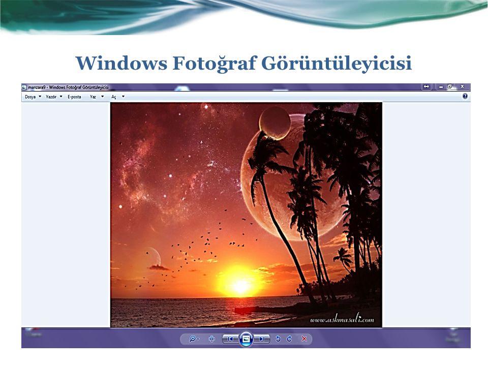Windows Fotoğraf Görüntüleyicisi
