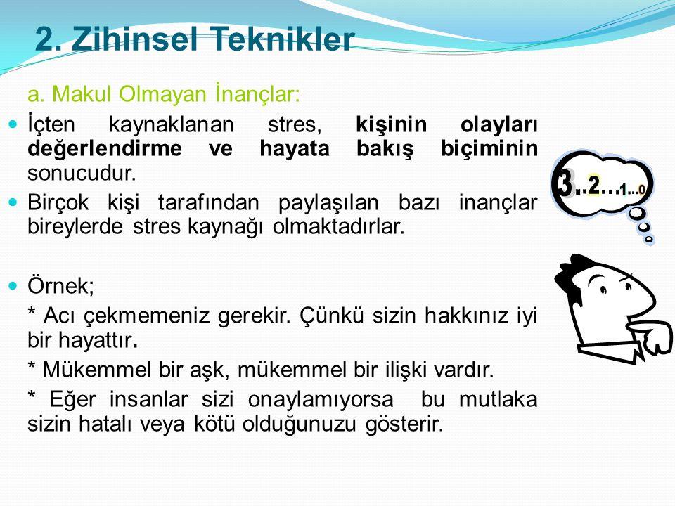 2.Zihinsel Teknikler a.