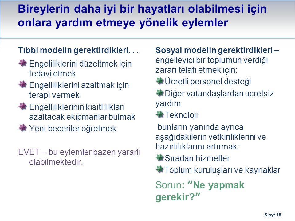 Bunun, Türkiye'deki politika, hizmetler ve toplumlar için anlamı nedir.