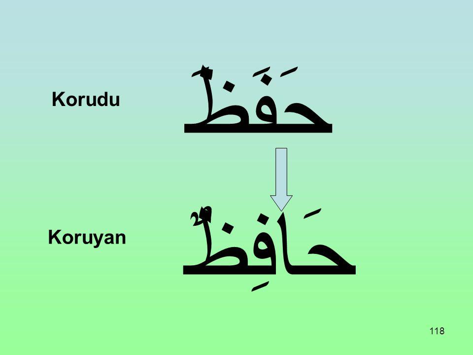 117 غَزَا غَازِى Savaştı Savaşan (gazi)