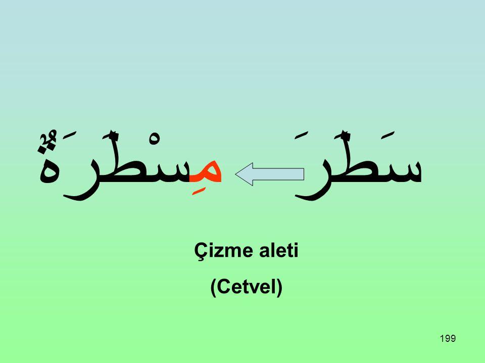 198 فَتَحَ مِفْتَاحٌ Açma aleti (Anahtar)