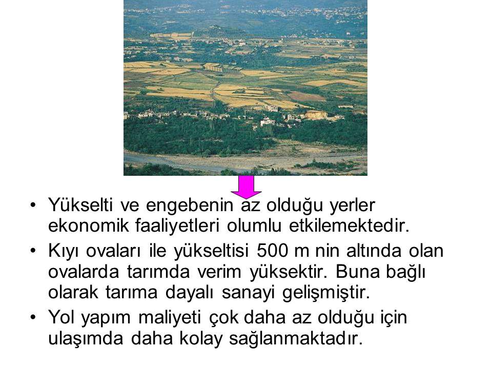 Türkiye dağlık ve engebeli bir ülkedir. Bu nedenle büyük bir bölümünde Tarım, Sanayi,Ulaşım başta olmak üzere bir çok ekonomik faaliyetin yürütülmesi