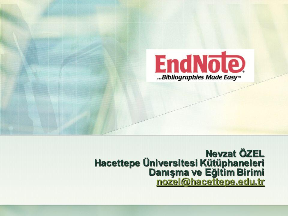 EndNote Kayıt Aktarımları (Export / Import)