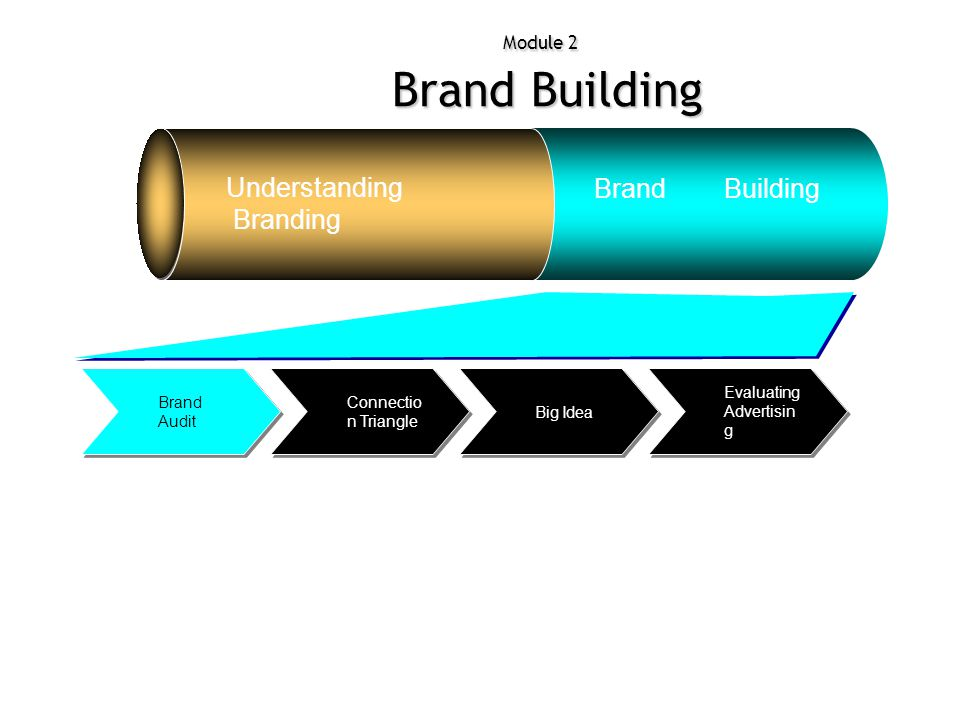 Module 2 Brand Building Understanding Branding Brand Building Evaluating Advertisin g Big Idea Connectio n Triangle Brand Audit