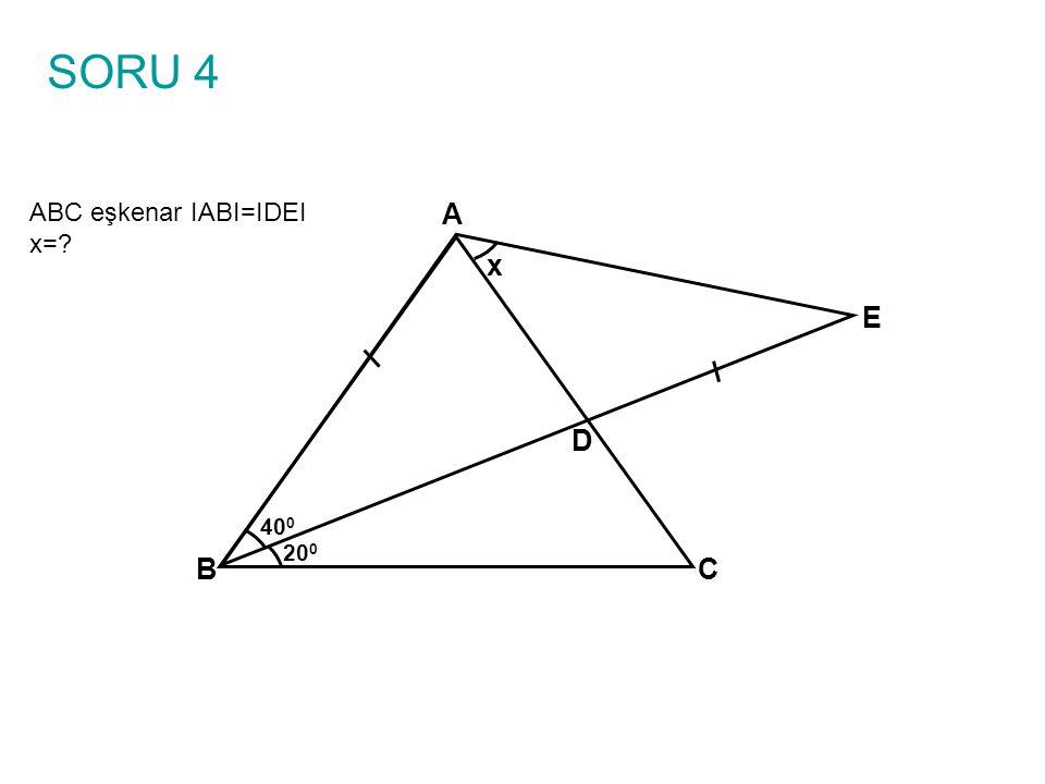 ÇÖZÜM 1 ABC eşkenar IABI=IDEI x=.
