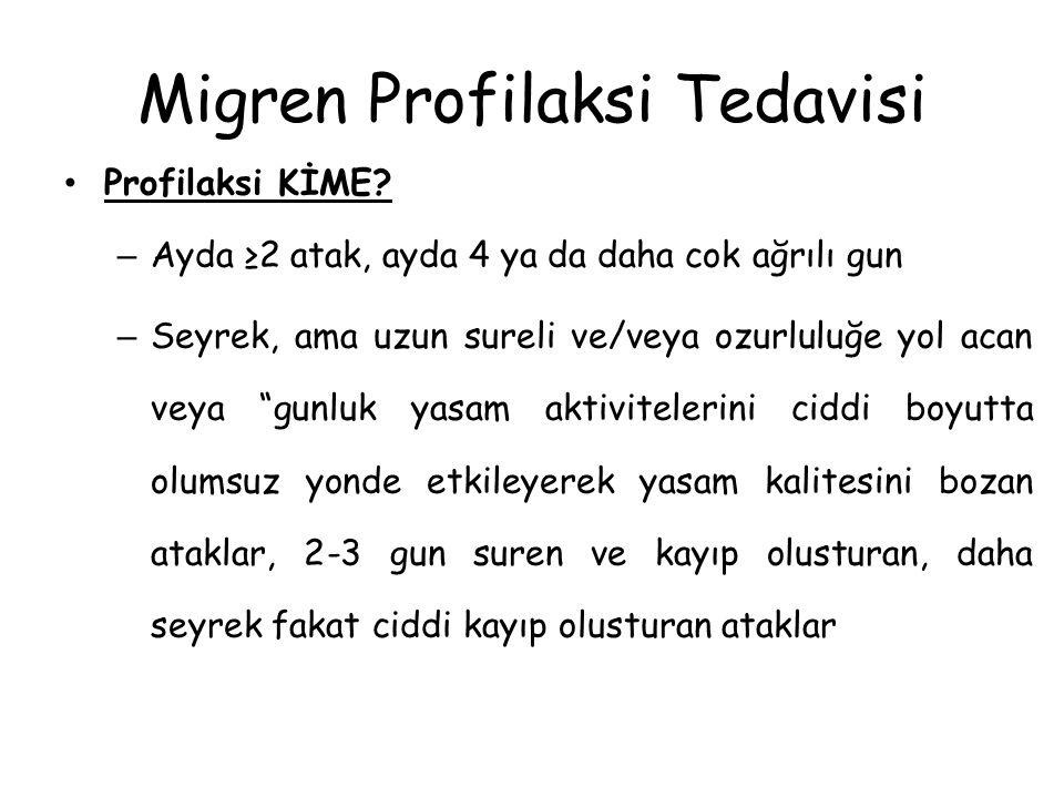 Migren Profilaksi Tedavisi Profilaksi KİME.