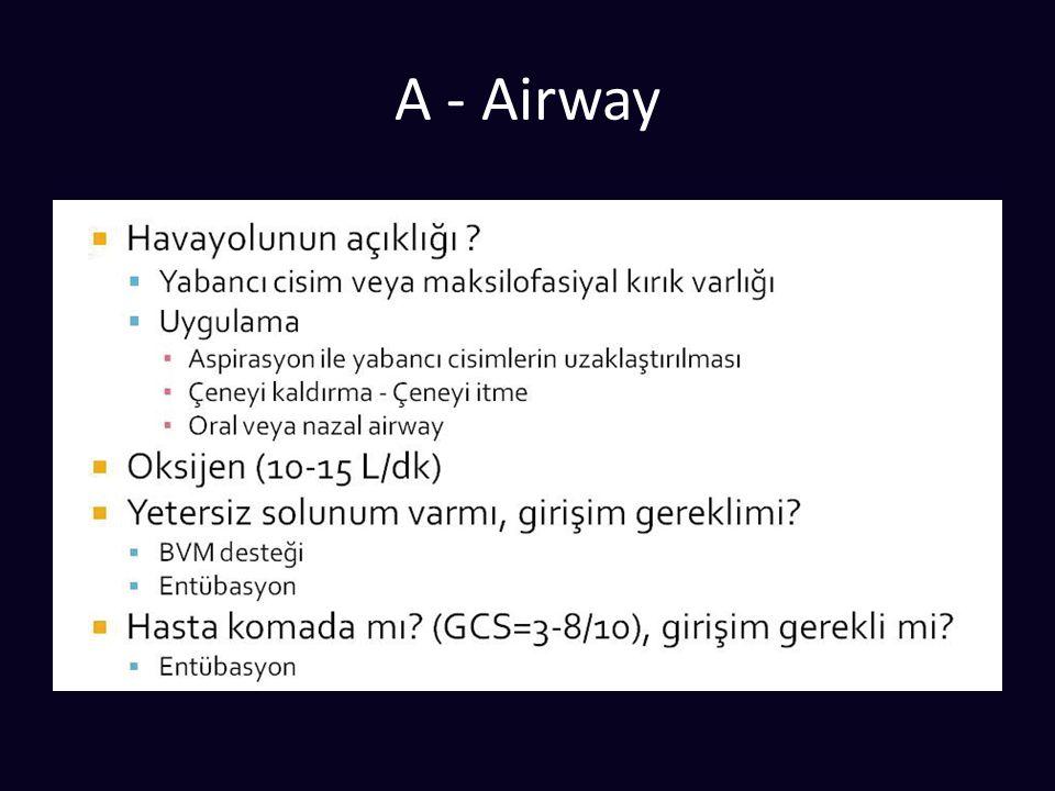 Şok 1.Hipovolemik 2. Obstrüktif (FAST, Akciğer grafisi) 3.