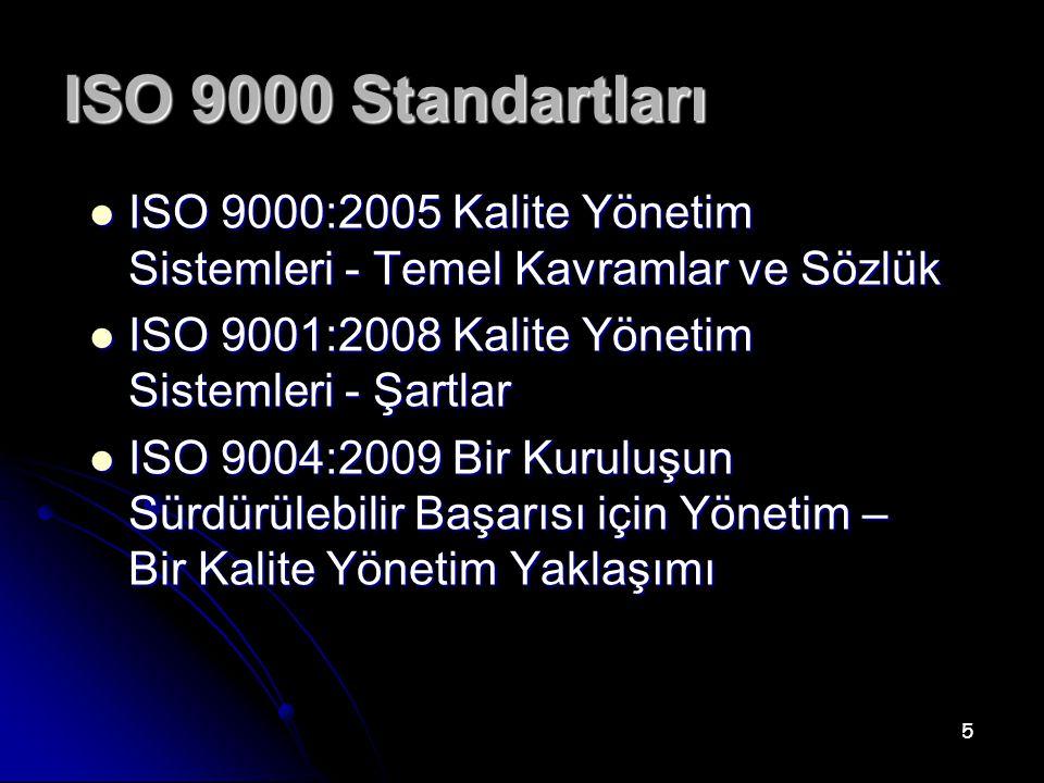 ISO 9001'in Sektöre Özel Türevleri Bazı kuruluşlar (örneğin büyük otomotiv imalatçıları gibi) ISO 9001 in şartlarının ürün veya hizmet kalitesini güvence altına alma bakımında yeterli olmadığına inanmaktadır.