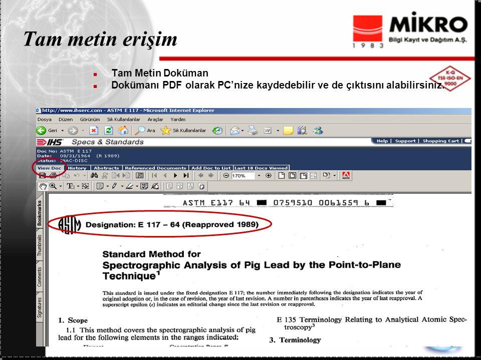 Tam metin erişim Tam Metin Doküman Dokümanı PDF olarak PC'nize kaydedebilir ve de çıktısını alabilirsiniz.