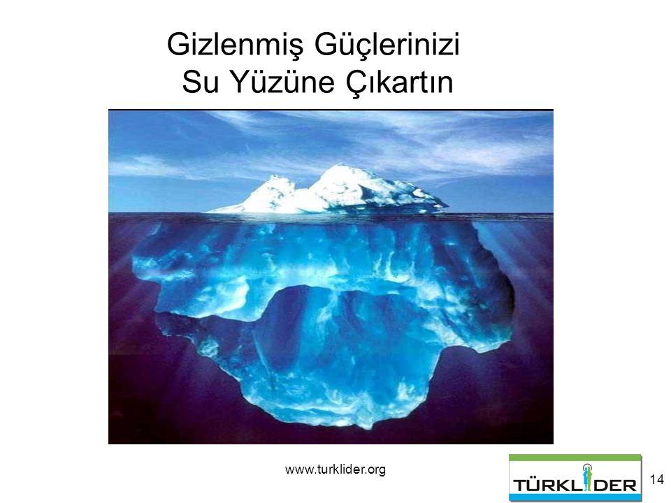 www.turklider.org 14 Gizlenmiş Güçlerinizi Su Yüzüne Çıkartın