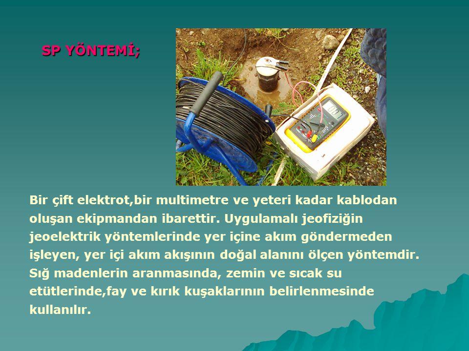 SP YÖNTEMİ; Bir çift elektrot,bir multimetre ve yeteri kadar kablodan oluşan ekipmandan ibarettir.