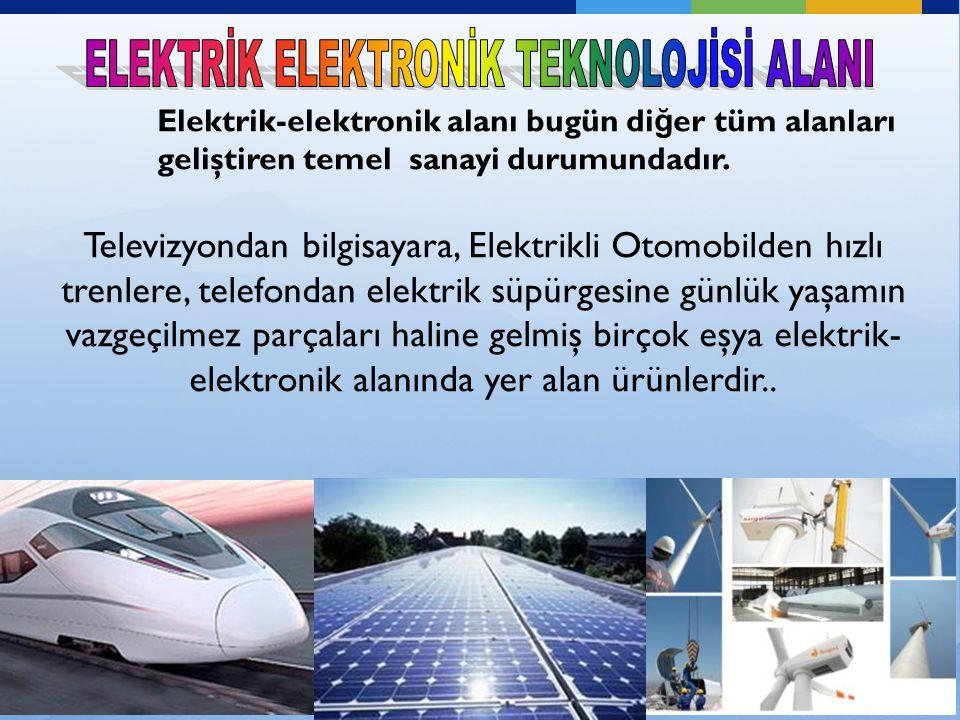 Televizyondan bilgisayara, Elektrikli Otomobilden hızlı trenlere, telefondan elektrik süpürgesine günlük yaşamın vazgeçilmez parçaları haline gelmiş birçok eşya elektrik- elektronik alanında yer alan ürünlerdir..