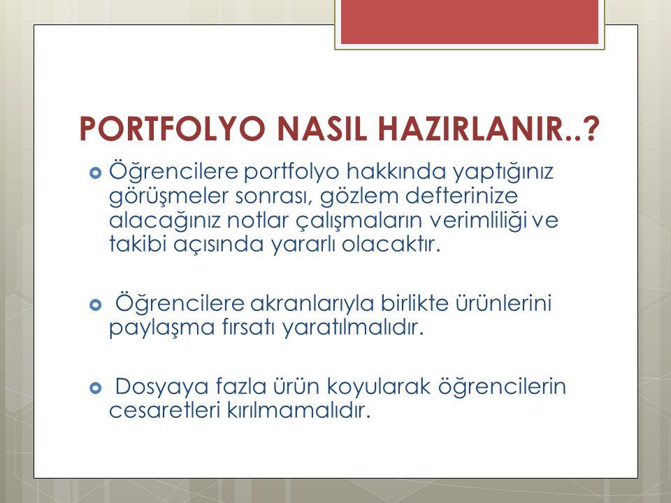 PORTFOLYO NASIL HAZIRLANIR...