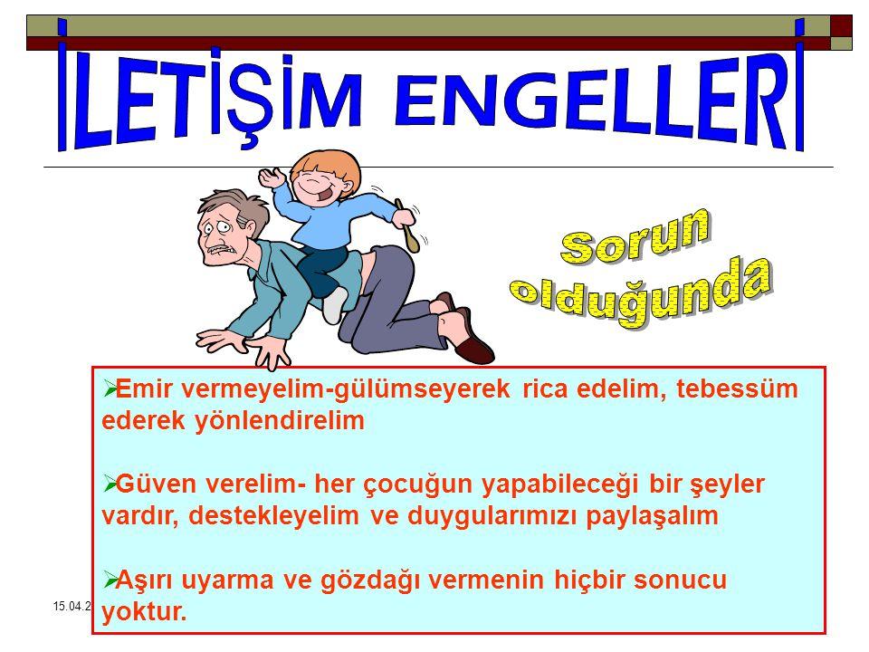 15.04.201555 Ailedeki sosyoekonomik durumun düşük olması ve çocukların dışarıda çalışmak zorunda kalması.