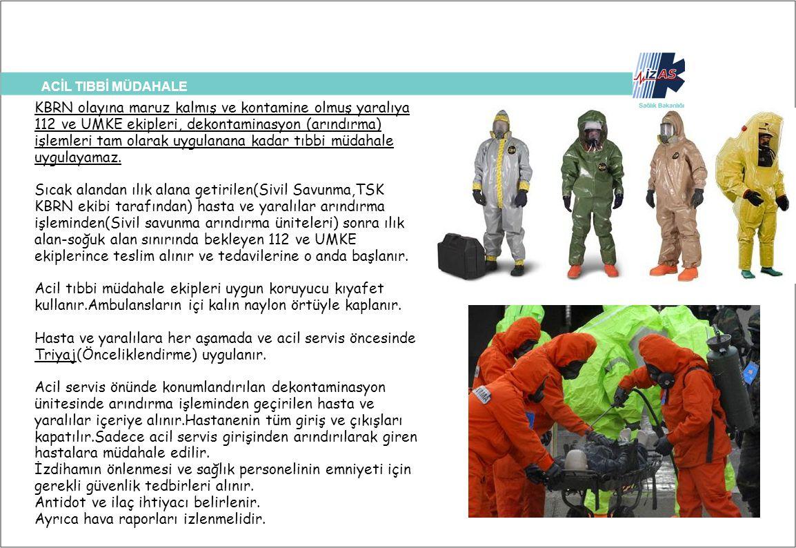 ACİL TIBBİ MÜDAHALE ÇAĞIMIZIN KORKUSU ATOM BOMBASI??? KBRN olayına maruz kalmış ve kontamine olmuş yaralıya 112 ve UMKE ekipleri, dekontaminasyon (arı