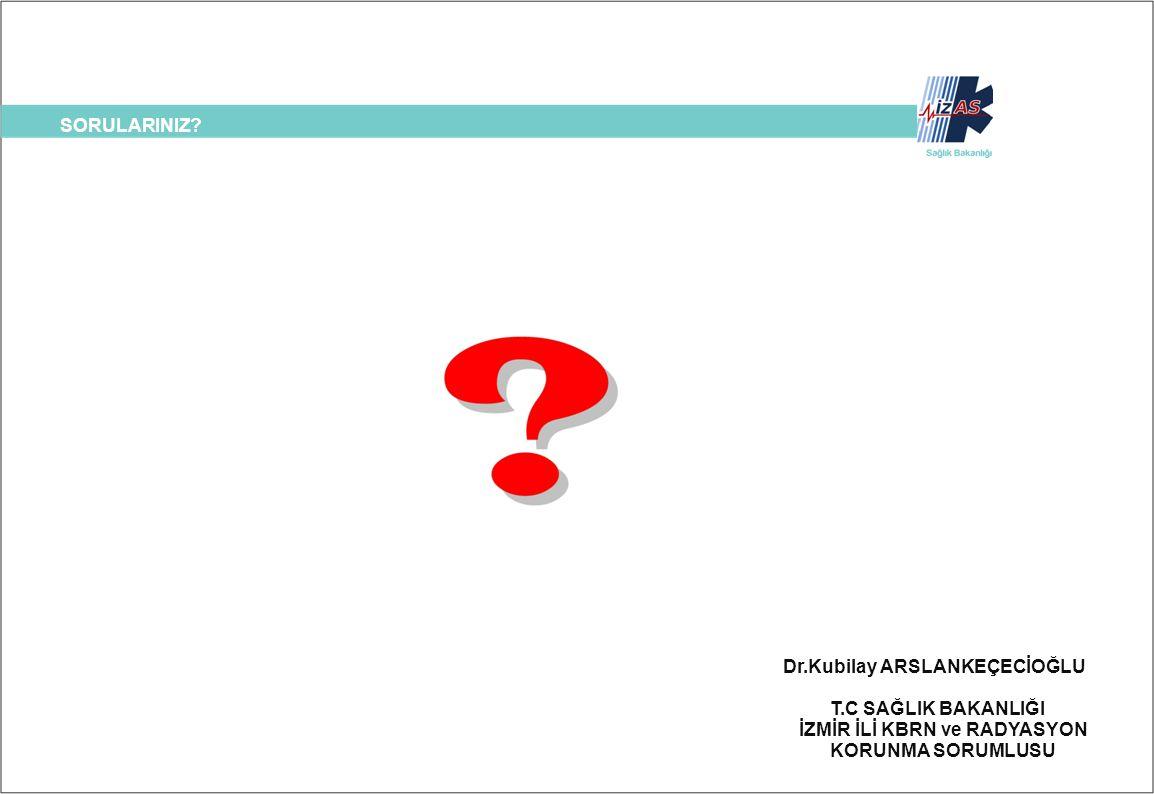 SORULARINIZ? Dr.Kubilay ARSLANKEÇECİOĞLU T.C SAĞLIK BAKANLIĞI İZMİR İLİ KBRN ve RADYASYON KORUNMA SORUMLUSU