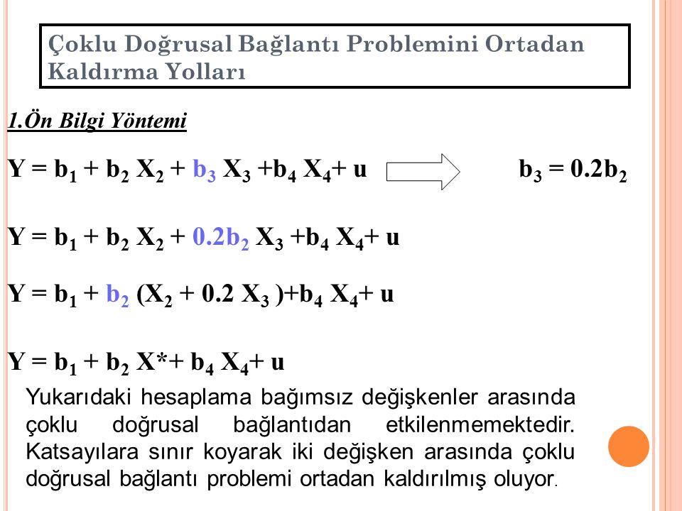 30 ÇOKLU DĞRUSAL BAĞLANTI PROBLEMİNİ ORTADAN KALDIRMA YOLLARI 1.