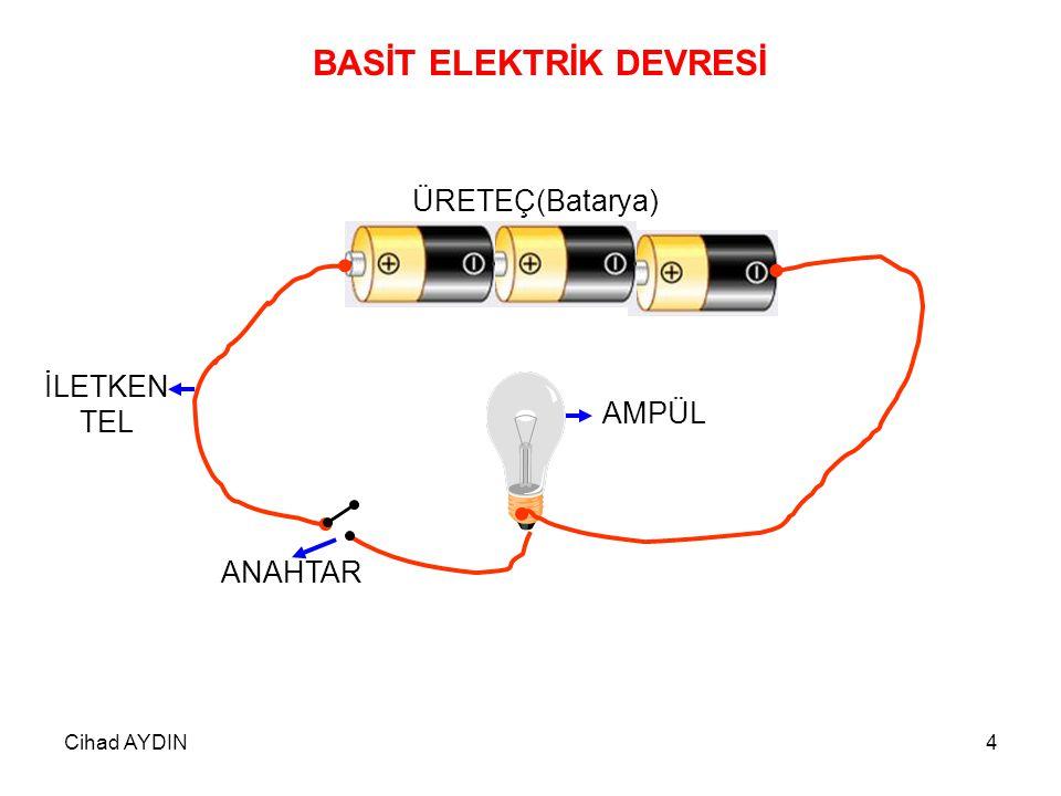 Cihad AYDIN5 PİL + - Görevi Bir elektrik devresinde elektrik enerjisi üretir.