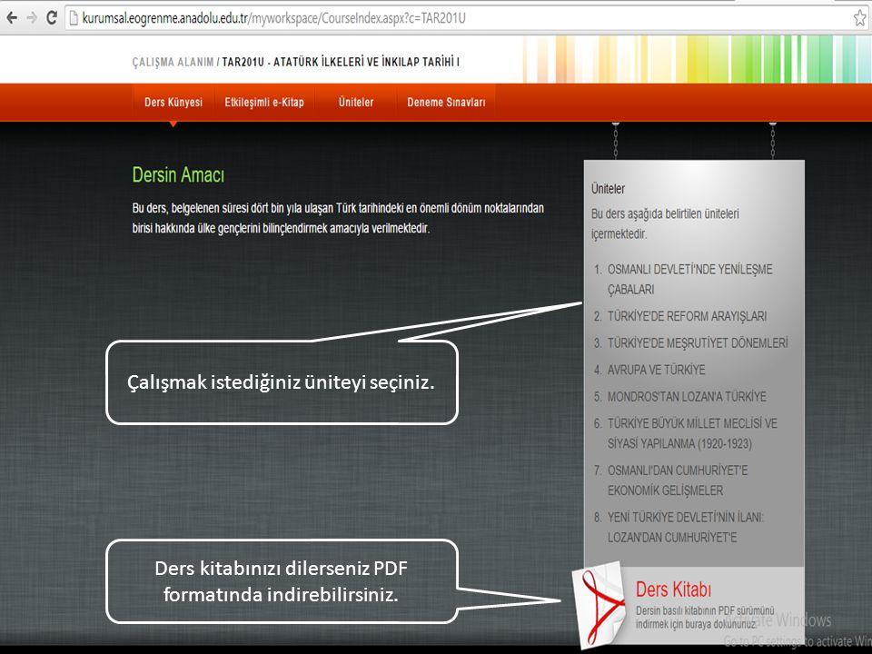 3) Sınav sonucu öğrenmek için: Sınav sonucunu öğrenmek için: eders.anadolu.edu.tr adresine giriniz.