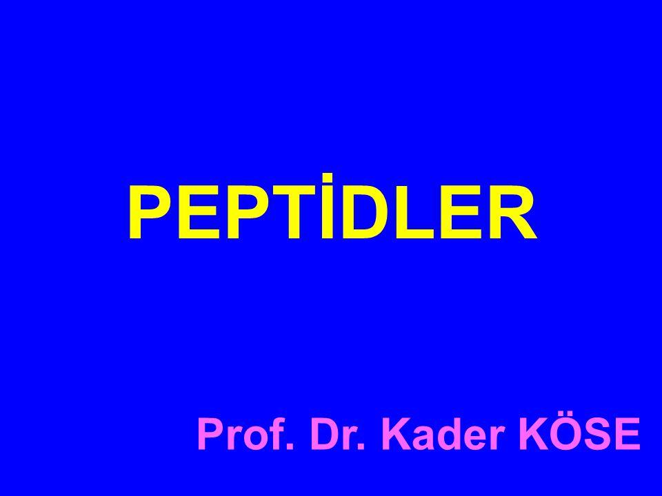Prof. Dr. Kader KÖSE PEPTİDLER