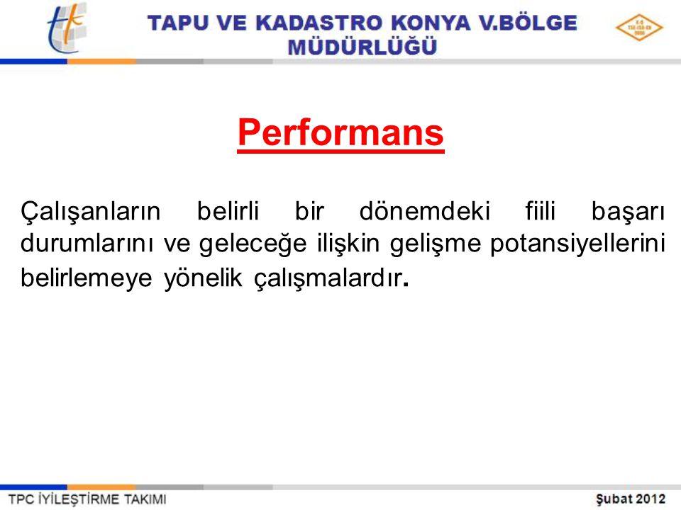 Performans ölçümü Performans ölçümü kurumda görevi ne olursa olsun bireylerin - çalışmalarını, - etkinliklerini, - yeterliliklerini, - fazlalıklarını, - yetersizliklerini kısacası bir bütün olarak tüm yönleri ile gözden geçirilmesidir.