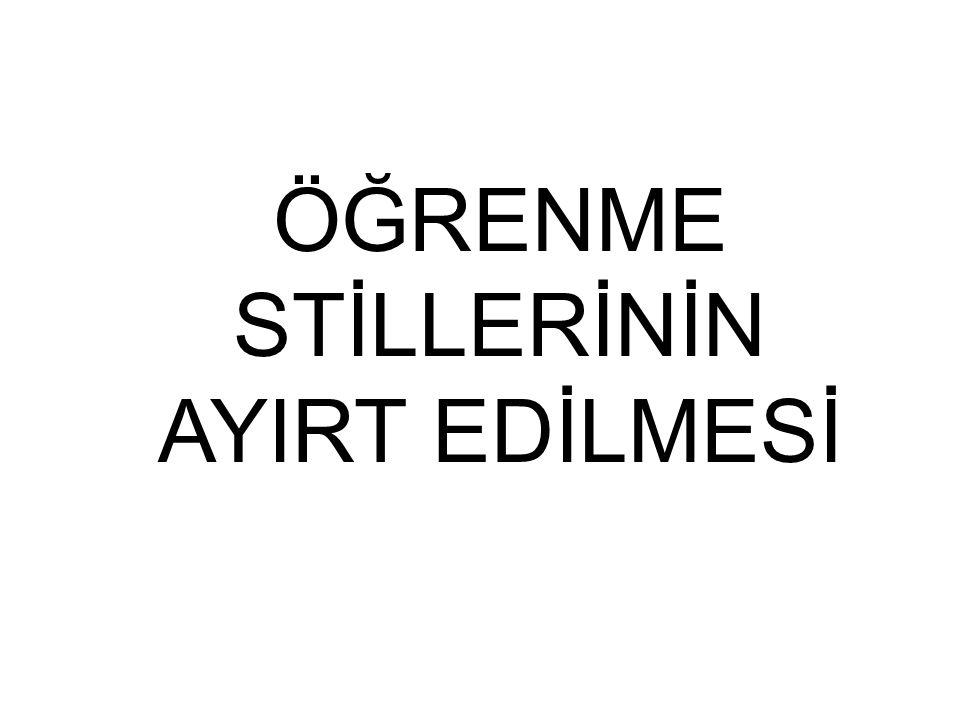 EVDE ÖĞRENME STİLLERİ
