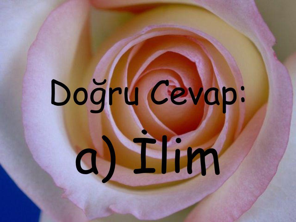 2.Allah'ın gücünün her şeye yettiğini ifade eden sıfat hangisidir.