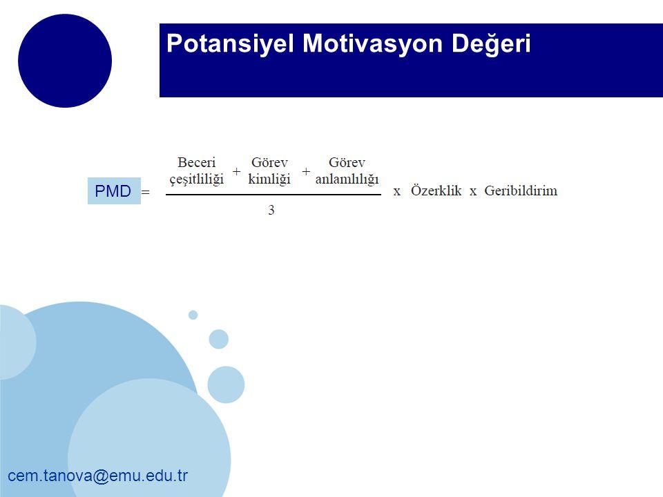 PMD Potansiyel Motivasyon Değeri