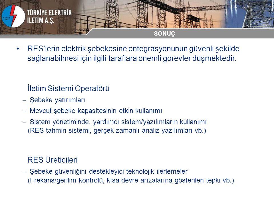 RES'lerin elektrik şebekesine entegrasyonunun güvenli şekilde sağlanabilmesi için ilgili taraflara önemli görevler düşmektedir. İletim Sistemi Operatö