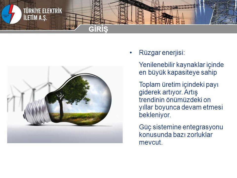 Rüzgar enerjisi: Yenilenebilir kaynaklar içinde en büyük kapasiteye sahip Toplam üretim içindeki payı giderek artıyor. Artış trendinin önümüzdeki on y