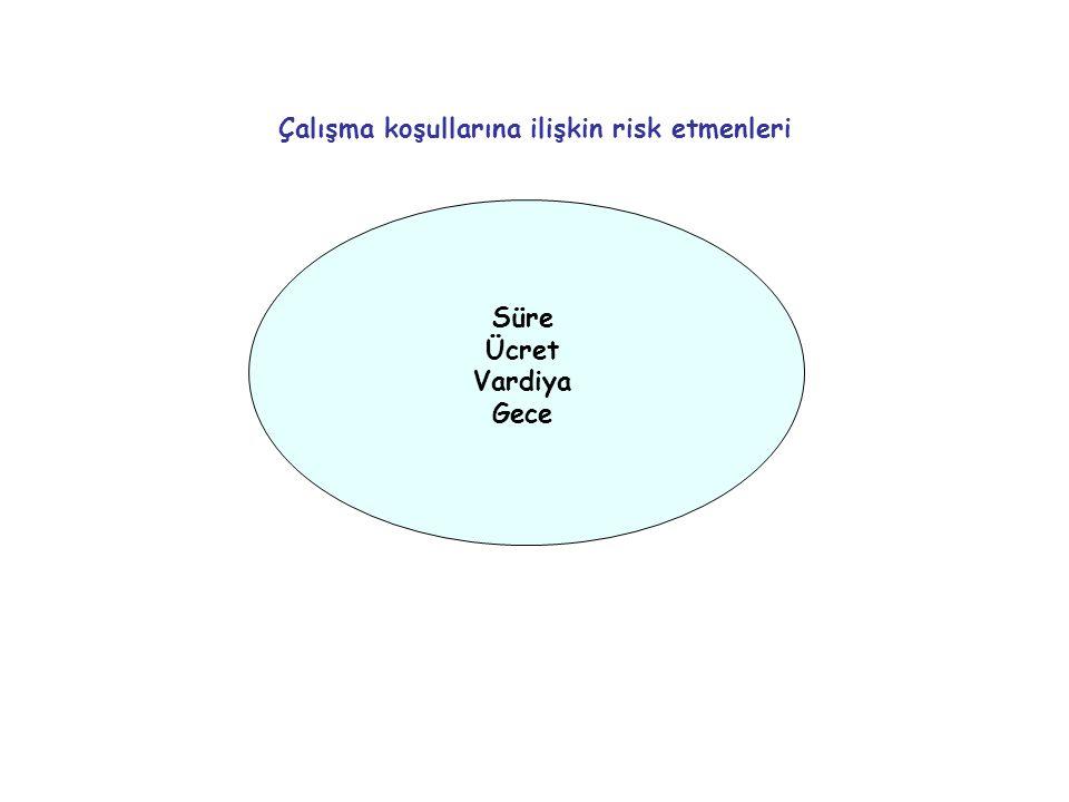 Örgütlenme İş güvencesi İstihdam biçimi Çalışma ilişkileri ile ilgili risk etmenleri