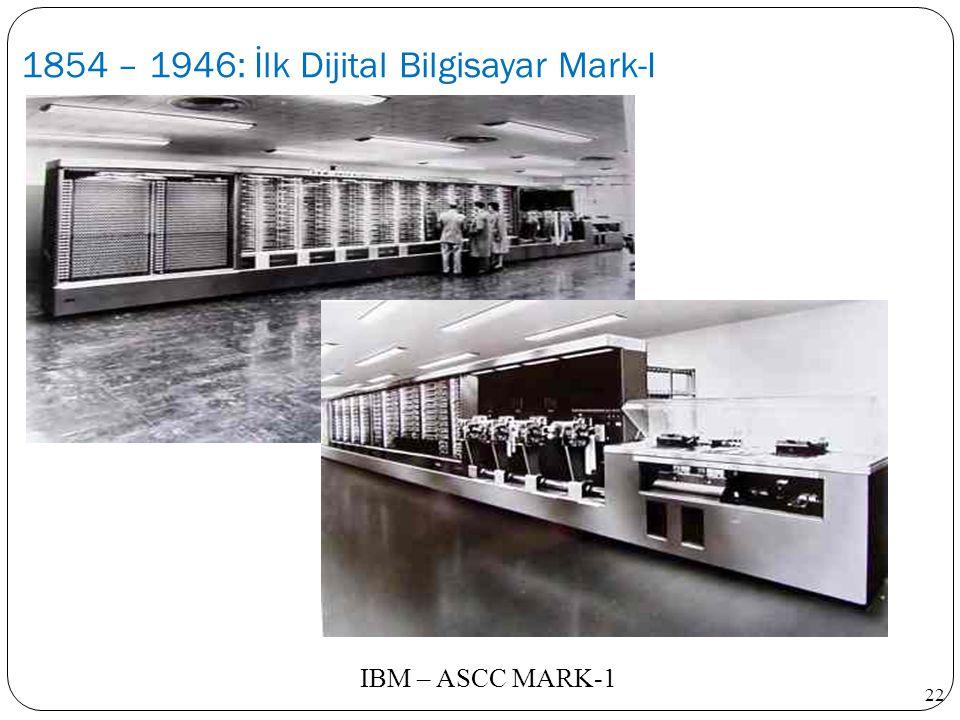 22 IBM – ASCC MARK-1
