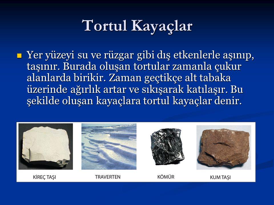 Başkalaşım Kayaçları Magmatik ve tortul kayaçların yüksek başınç ve sıcaklığın etkisi ile değişikliğe uğraması sonucu oluşan kayaçlardır.