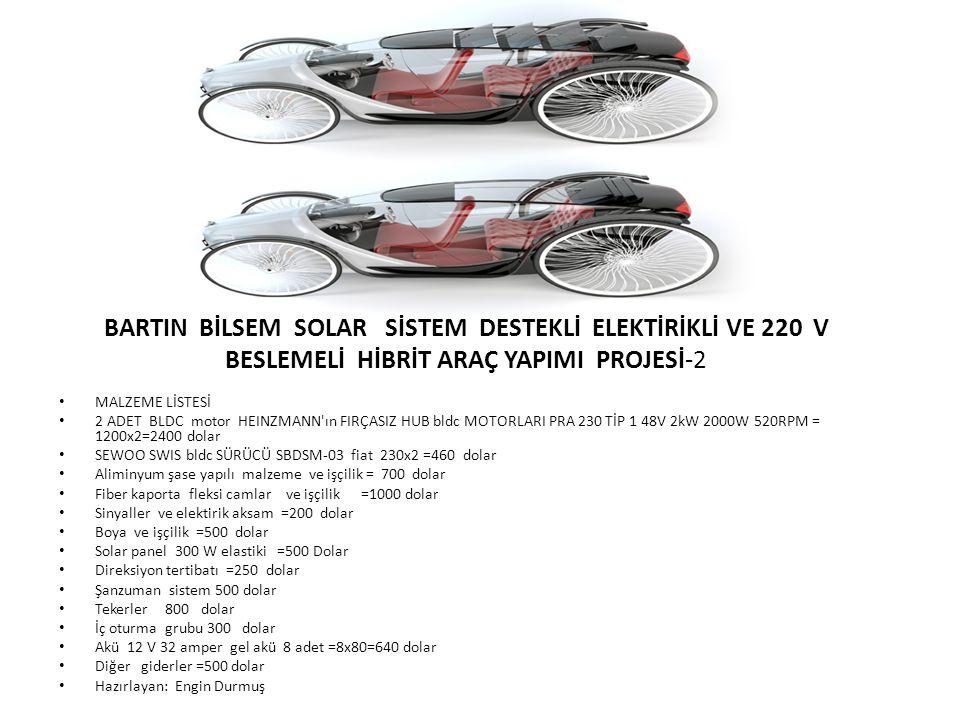 MALZEME LİSTESİ 2 ADET BLDC motor HEINZMANN'ın FIRÇASIZ HUB bldc MOTORLARI PRA 230 TİP 1 48V 2kW 2000W 520RPM = 1200x2=2400 dolar SEWOO SWIS bldc SÜRÜ