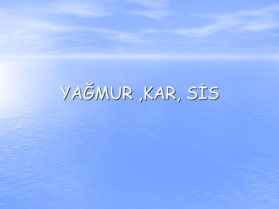 YAĞMUR,KAR, SİS