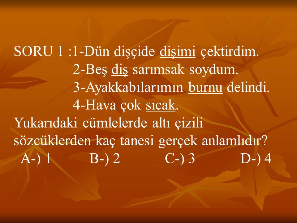 CEVAP 26 : A