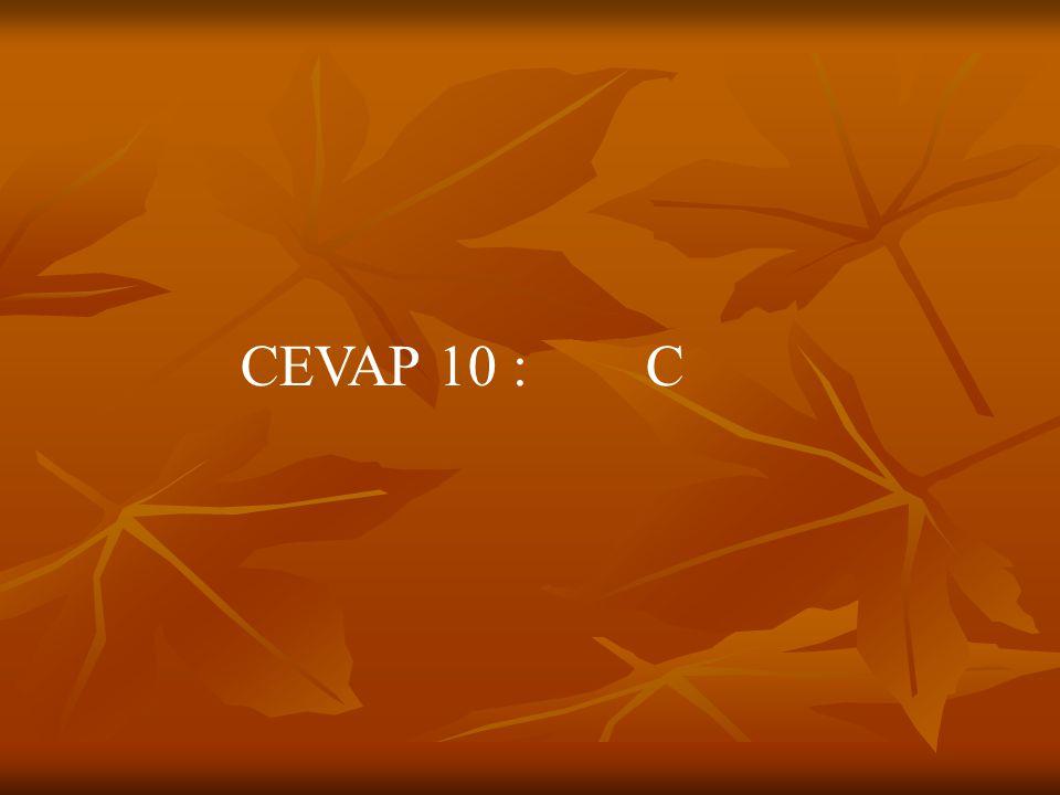 CEVAP 10 : C