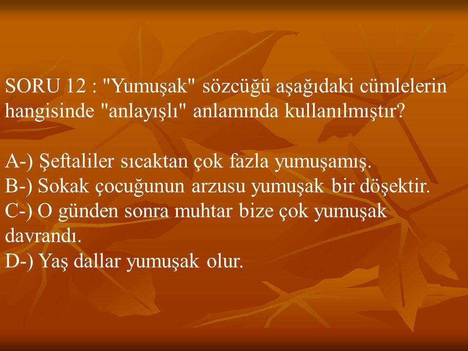 SORU 12 :